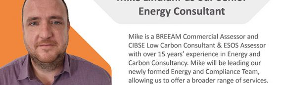 Mike Lindlahr joins us as Senior Energy Consultant