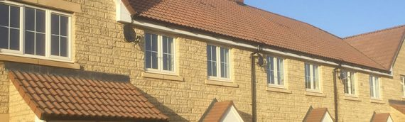 New dwellings at St Peters Glade, Radstock, Somerset