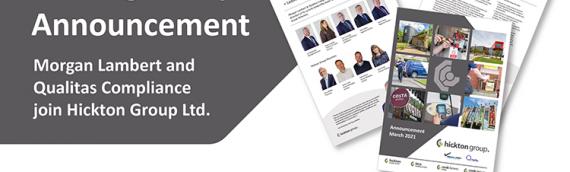 Morgan Lambert and Qualitas Compliance join Hickton Group Ltd
